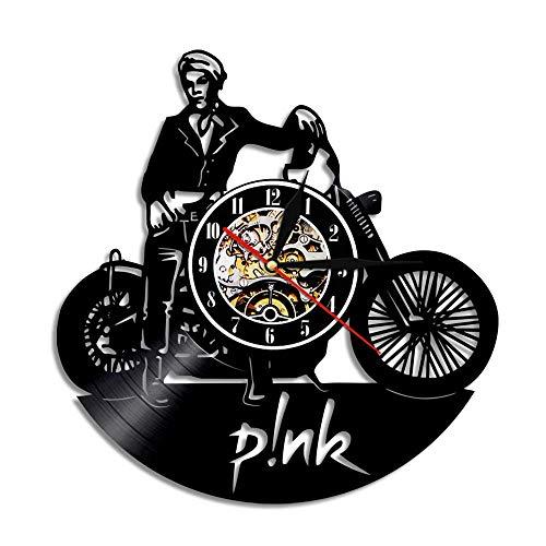 Horloge Murale Disque Vinyle Horloge Rose 3D Conception Horloge Murale Déco Vintage Salle De Famille Décoration Art Cadeau, Diamètre 30 cm