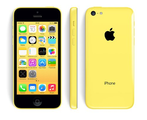Apple iPhone 5c 4  SIM   nica 4G 32GB Amarillo - Smartphone  10 2 cm  4    32 GB  8 MP  iOS  7  Amarillo