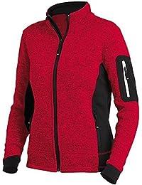 FHB Strickfleece Jacke atmungsaktiv, Farbe:rot;Größe:L