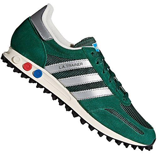 adidas Herren La Trainer Og Gymnastikschuhe Grün (Collegiate Green/Matte Silver/core Black) 38 2/3 EU