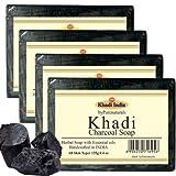 byPurenaturals Khadi Charcoal Soap - 125g Set of 4