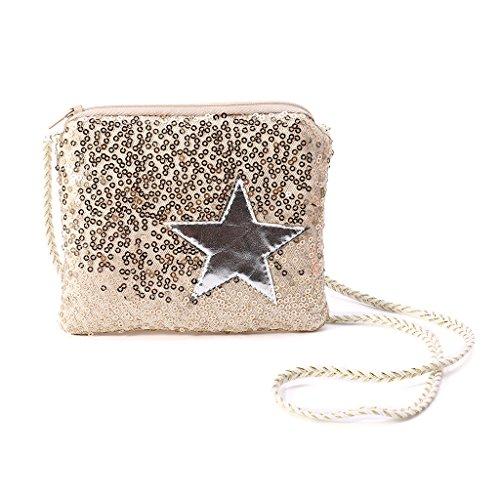 Pailletten-hobo Handtasche (YOFO Kinder Mädchen Pailletten Umhängetasche Handtasche Messenger Hobo Cross Body Geldbörse Brieftasche)