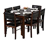 #1: DeckUp Ceylon Six Seater Dining Table Set (Rubberwood, Wenge)