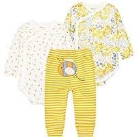 Bebé Body Manga Larga y Pantalones 3 Piezas Conjuntos de Ropa Recién Nacido Algodón Pijama Set de Regalo