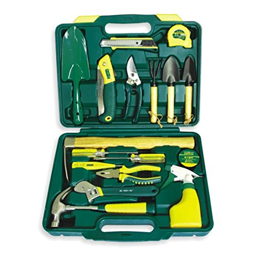 18 Sets von Tools für Gartenarbeit Floral Tools Set Home Garden Kombination Toolbox (Color : Green)