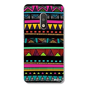 Hamee Original Cover Thin Fit Crystal Clear Plastic Hard Back Case for Motorola Moto G4 Plus / G Plus 4th Gen (tribal)