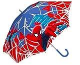 kids4shop Spiderman Spider Man Regenschirm Schirm Kinderschirm Stockschirm Glockenschirm mit Sticker
