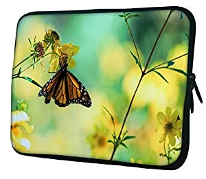 "Snoogg Chetah Butterfly 10"" 10.5"" 10.6"" inch Laptop Notebook Slipcase Sleeve Soft Case Carrying Case for Macbook Pro Acer Asus Dell Hp Sony Toshiba"