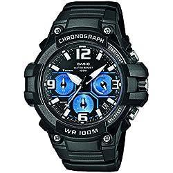 Casio Reloj Analogico para Hombre de Cuarzo con Correa en Resina MCW-100H-1A2VEF