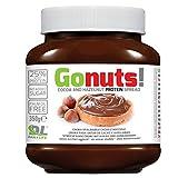 Anderson Go Nuts 350 gr Cioccolata Proteica Spalmabile come Nutella cacao e nocciole con il 25% di proteine del siero latte, senza olio di palma e zuccheri aggiunti