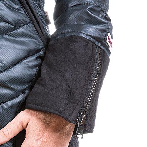 khujo - Blouson - Veste damassée - À Carreaux - Col Montant - Manches Longues - Femme Gris Charcoal Black Grey Melange dark blue (P3)