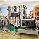 Wmbz Europa Moderna Papel De Pared Calle De Venecia Foto Papel Tapiz Mural Pegatinas 3D Salón Dormitorio Mural-400X280Cm
