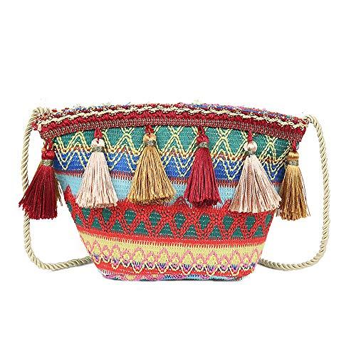 TianWlio Frauen Handtasche Tasche Mode Quaste Wilde Persönlichkeit Umhängetasche Kuriertasche B