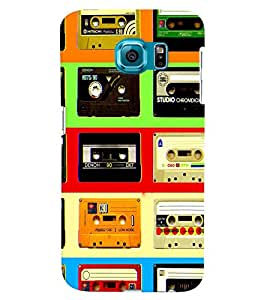 GADGET LOOKS PRINTED BACK COVER FOR SAMSUNG GALAXY S6 MULTICOLOUR