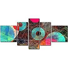 DekoArte 80 Cuadro Moderno en Lienzo con Diseño Abstracto, Tela, Multicolor, 180 x 2 x 85 cm