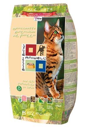Aniwell - Croquettes Chat Biologiques au poulet - All Cats, Sac de 2 kg
