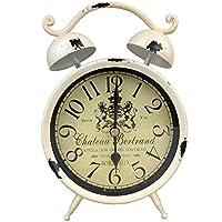 GMMH Reloj De Mesa Nostalgie Antiguo Vintage Retro Metal Reloj de pie Deko Reloj Despertador en
