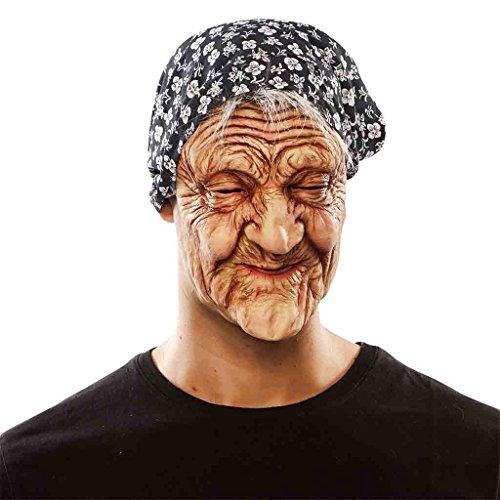 Hexe Oma Greisin alte Frau Maske Damenkostüm (Alte Frau Maske)