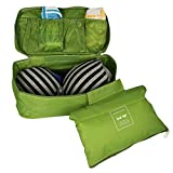Shopo's Waterproof Travel Handy Bra Underwear Lingerie Pouch Case Travel Organizer Storage Bag(Green)