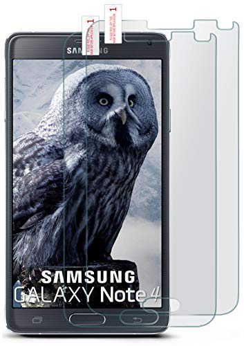 moex 2X 9H Panzerfolie für Samsung Galaxy Note 4 | Panzerglas Matt Glasfolie [Tempered Glass] Screen Protector Bildschirmschutz-Folie für Samsung Galaxy Note 4 Schutzfolie Glas