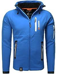 Geographical Norway TRIDENT MEN Anorak Chaqueta Azul para Hombre GeoNorway Platinium 4000