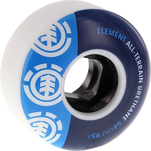 element-section-54mm-white-blue-blu-95a-at-wheels-set-of-4-by-element-skateboards