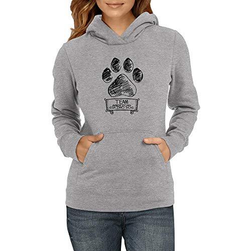 Idakoos Team American Eskimo Dog Dog paw 2 Damen Kapuzenpullover M -
