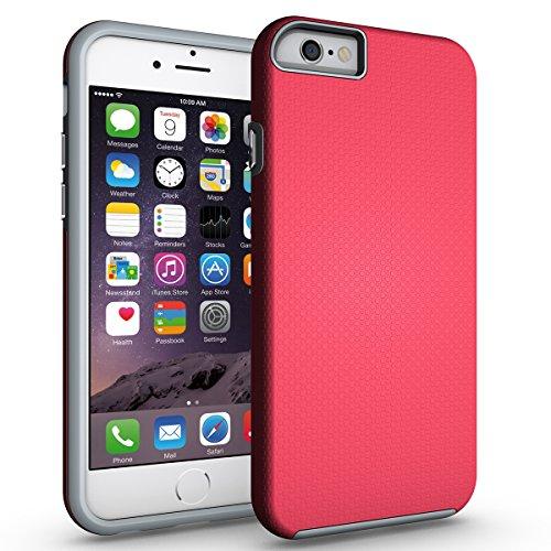 Coque iPhone 6/6s Rouge,Coque iPhone 6s [avec un Stylo Tactile],Slynmax Luxe Mode Housse TPU Slim Bumper Souple Silicone Etui Housse de Protection Flexible Soft Case Cas Couverture Anti Choc Ultra Mince Légère Coque pour Apple iPhone 6/6s