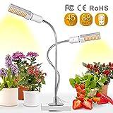 Relassy Pflanzenlampe LED, Aktualisierte Vollespektrum 45W Pflanzenlicht mit...