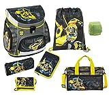 Familando Transformers Bumblebee Schulranzen-Set 7tlg. mit Federmappe, Sporttasche und Regenschutz