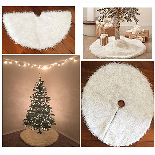 Albero Di Natale Bianco 90 Cm.Dotech 36 Inches Bianco Gonna Albero Di Natale Lusso Rotondo