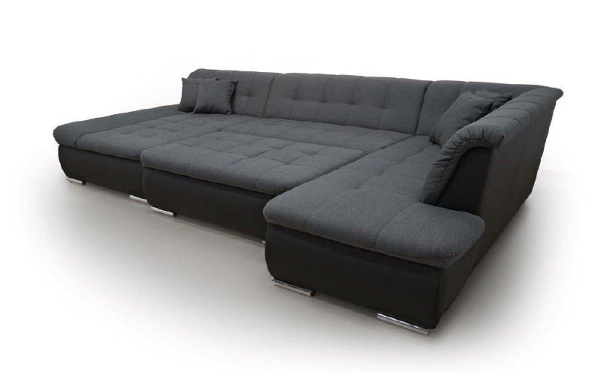 Ecksofa anthrazit  Dreams4Home Polsterecke Aulis; Sofa Wohnlandschaft Ecksofa Couch ...