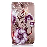 YANCAI Case Cover Lotus Pattern Horizontal Flip Leather