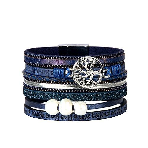 JAOYU Bracelet Cuir Femmes Charms Bracelets Filles Bracelet...