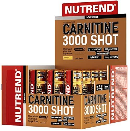 Nutrend CARNITINE 3000 SHOT 20x60ml fresa Deportes