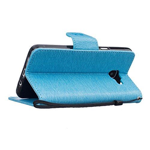 Qiaogle Téléphone Coque - PU Cuir rabat Wallet Housse Case pour Apple iPhone 7 (4.7 Pouce) - BF68 / Don't touch my phone & Gris Un Ours BF65 / Don't touch my phone & Bleu clair Un Ours