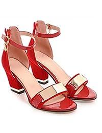 Sandali Primavera casual con punta rotonda per donna 7MqvO