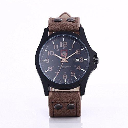 Men\'s watch Fashion Watch Trend Herrenuhr,Brown