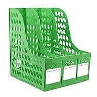 Liying Neu Stehsammler Zeitschriftensammler Stehorder DIN A4×3 Verschiedene Farben Kunststoff Grün