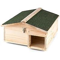 oneConcept Stachelburg Rideau pour bouclages et rongeurs, toit recouvert de carton bitumé, facile à nettoyer, résiste…
