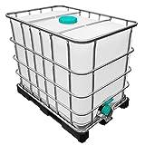 600l IBC Wassertank auf Kunststoffpalette Ungespült (Sirup Reste)