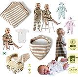 Baby Bio Überraschungspaket  Kleidchen Shirt Top Leggings Hose Overalls Tuch Body  (0-3 Monate (50-56), Paket-Baby)