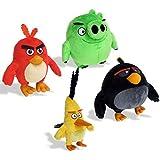 Angry Birds 6027844 juguete de peluche - juguetes de peluche (Toy set, Angry Birds, Bomb, Chuck, Pig, Red, Multi, Felpa)