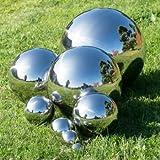 CIM Dekokugel aus Edelstahl - Dekokugel SILBER Ø 25 cm - Leichte Hohlkugel, Gartenkugel, Schwimmkugel - polierte Oberfläche mit dauerhaft spiegelndem Glanz