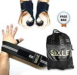 SiiX L.E Cinghie Sollevamento Pesi con Imbottitura + Fasce da Polso Professionali. Ideale per Pull Up,Calisthenics,Panca Piana.