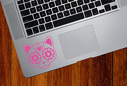 Sugar Skull Cat Kitty - Day of The Dead - Dia de los Muertos - Laptop | MacBook | Trackpad | Tablet - Vinyl Decal Sticker YYDC (2.75