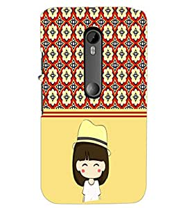 PrintDhaba Cute Girl D-2778 Back Case Cover for MOTOROLA MOTO G3 (Multi-Coloured)