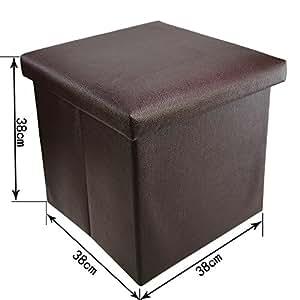 38x38x38cm faltbarer design sitzhocker mit stauraum sitzw rfel aufbewahrungsbox mit deckel. Black Bedroom Furniture Sets. Home Design Ideas