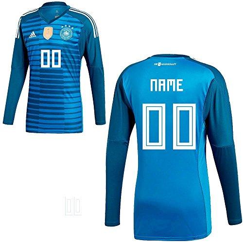 adidas Fußball DFB Torwart Trikot Home Torwart-Heimtrikot WM 2018 Kinder Wunschname 00 Gr 176