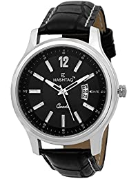 HASHTAG DATE DISPLAY BLACK DIAL ANALOGUE WATCH FOR MEN